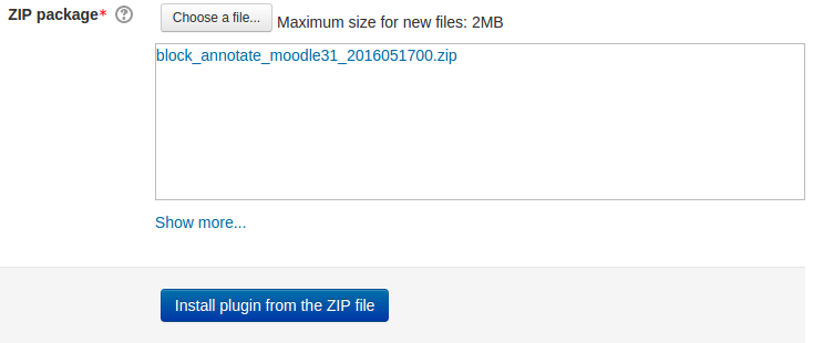 Choose Zip File